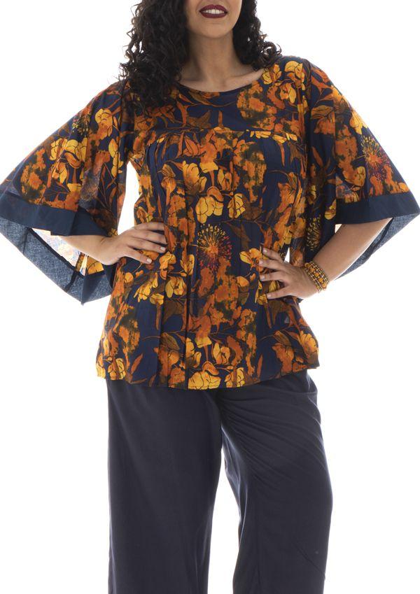Tunique imprimé floral avec manches kimono Tammy 291937