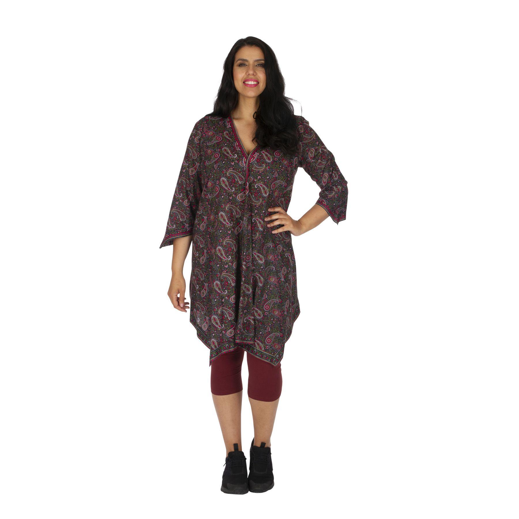 Tunique kimono grande taille femme ample bohème Frankeny