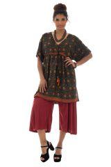tunique large avec col en v et motifs originaux Marden 290068