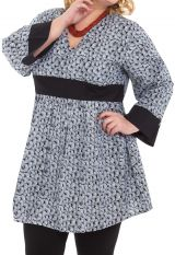 Tunique légère Blanche pour Femme ronde Originale et Colorée Daisy 284455