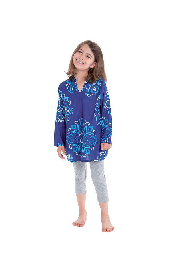 Tunique Lory pour Fille Originale et Pas Chère Bleue 280679