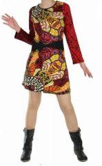 Tunique mode ethnique cantoh rouge 248720