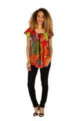 Tunique multicolore en coton pour l' été Alexia 289603