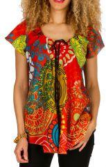 Tunique multicolore en coton pour l' été Alexia 292181