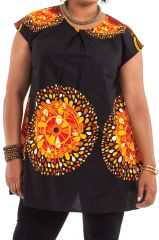 Tunique Noire ample à manches courtes Colorée Barbara 284526