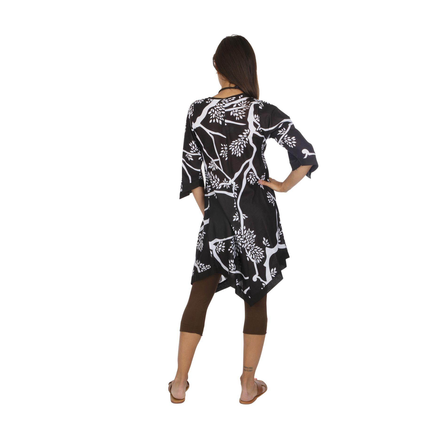 Tunique noire ample et asymétrique pour femme Jenny