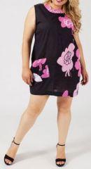 Tunique noire et rose grande taille Mucina 269618
