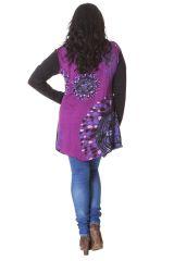 Tunique Noire et Rose Grande taille Originale et Asymétrique Maria 286555