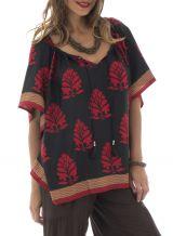 Tunique noire et rouge parfaite pour l'été Tilamo 291556