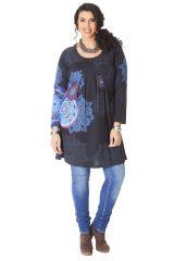 Tunique Noire Originale et Ethnique pour femme pulpeuse Yetty 286571