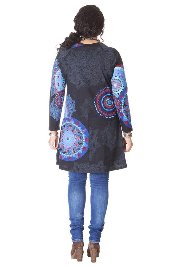 Tunique Noire Originale et Ethnique pour femme pulpeuse Yetty 286573