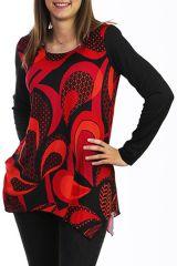 Tunique noire originale style vintage en maille 288047