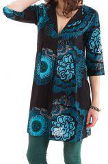 Tunique Noire pour femme à col Tunisien Originale Anita 281907