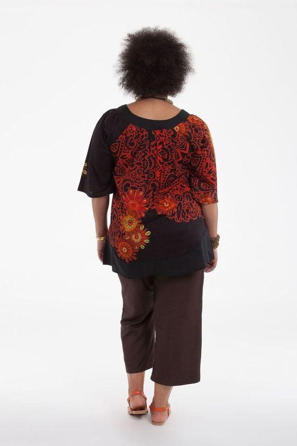 Tunique noire pour femme en grande taille pas chère Enola 284711