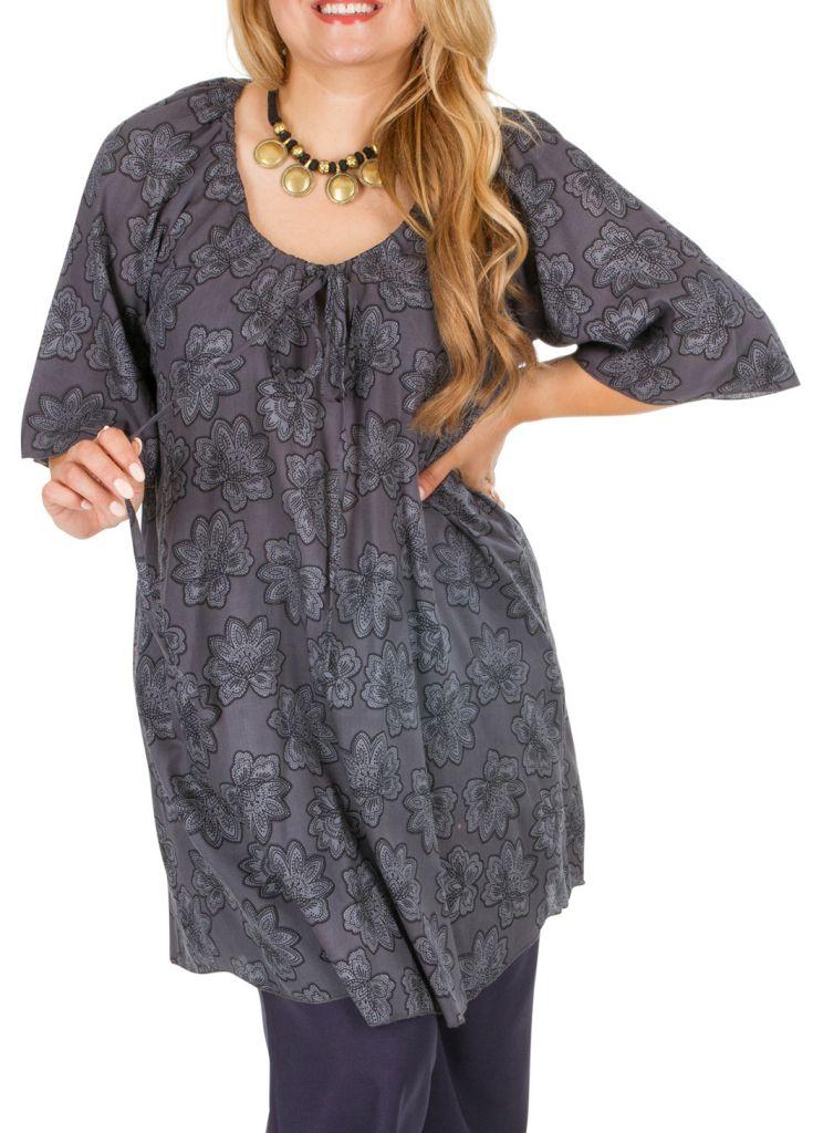 Tunique originale à manches courtes femme grande taille Leny