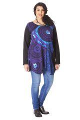 Tunique Originale et Asymétrique Grande taille Maria Noire et Violette 286552