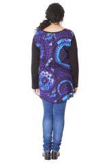 Tunique Originale et Asymétrique Grande taille Maria Noire et Violette 286553
