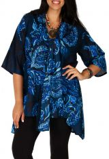Tunique originale et chic à col foulard grande taille Elly 313117