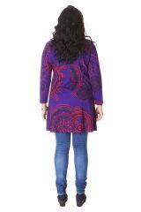 Tunique Originale et Colorée pour femme pulpeuse Yetty Violette 286564