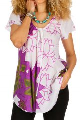 Tunique originale et ethnique en coton pour l' été Elina 292167