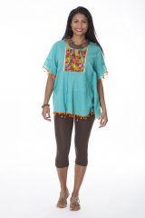 Tunique originale femme bleue manches courtes Sanna 288109