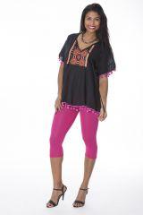 Tunique originale femme manches courtes noire Elody 288132