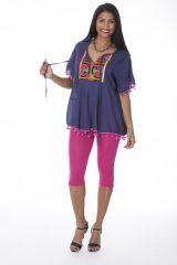 Tunique originale femme manches courtes violette Lizie 288136