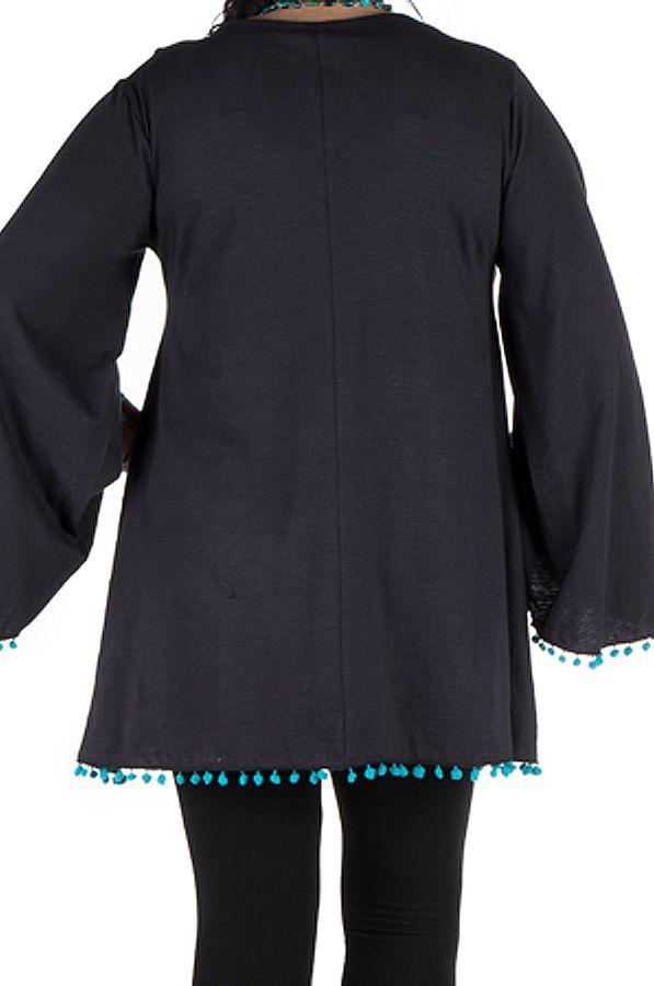 Tunique originale manches amples Noire chic et tendance Wassila 302375