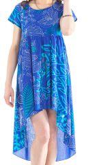 Tunique ou Robe courte Asymétrique et Originale Gabriella Bleue 281918