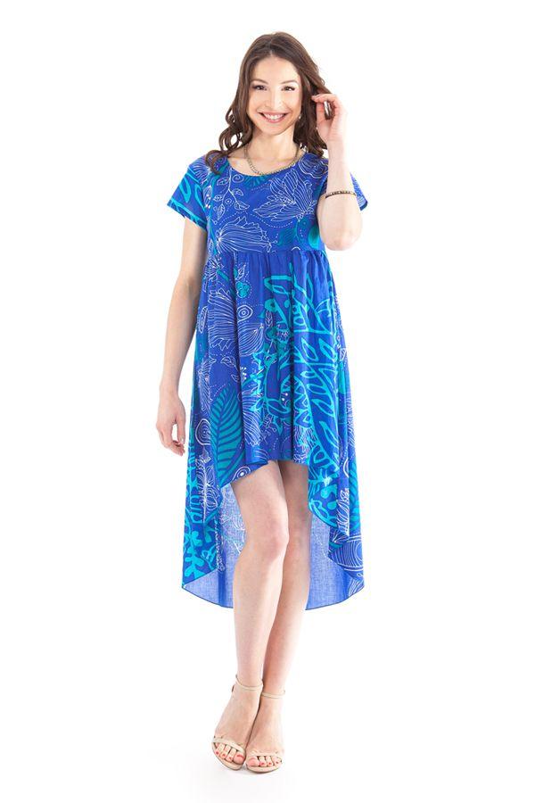 Tunique ou Robe courte Asymétrique et Originale Gabriella Bleue 281919