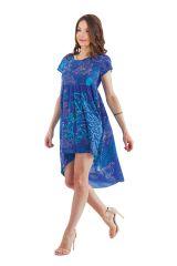 Tunique ou Robe courte Asymétrique et Originale Gabriella Bleue 281920
