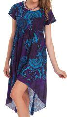 Tunique ou Robe courte Originale et Asymétrique Gabriella Violette 281912