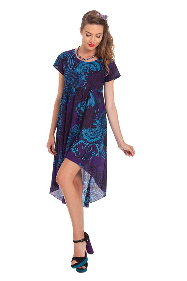 Tunique ou Robe courte Originale et Asymétrique Gabriella Violette 281913