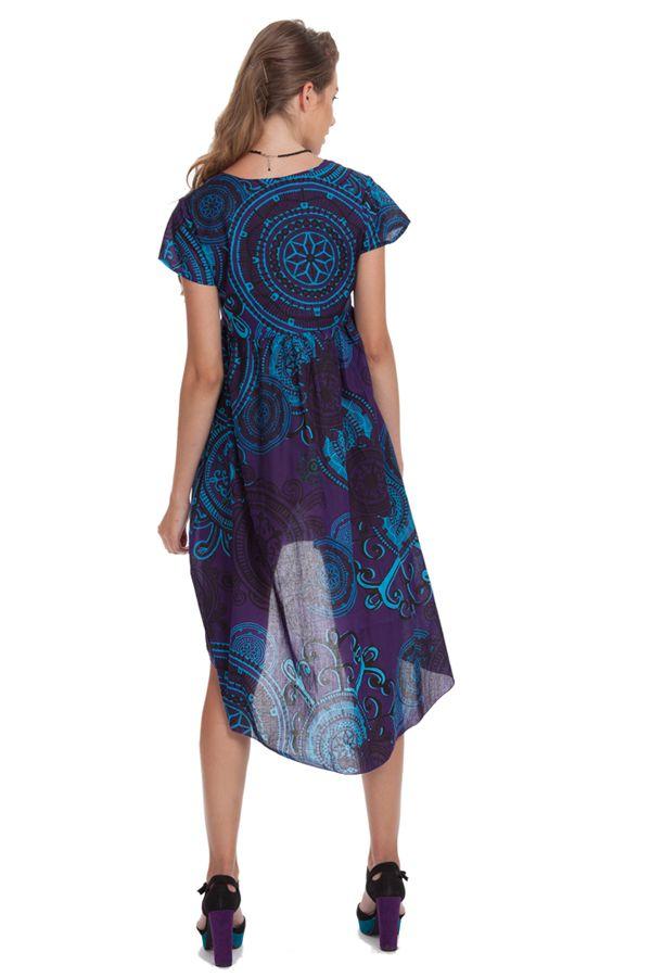 Tunique ou Robe courte Originale et Asymétrique Gabriella Violette 281914