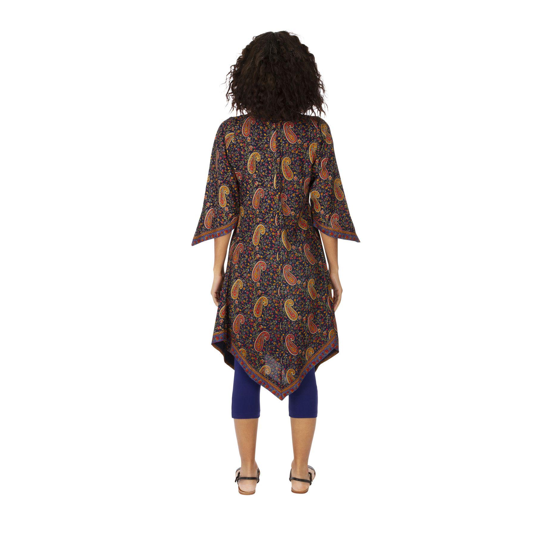 Tunique ou robe d\'été courte pour femme bohème Anastasia