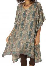 Tunique ou robe de plage ethnique et fluide Carmina
