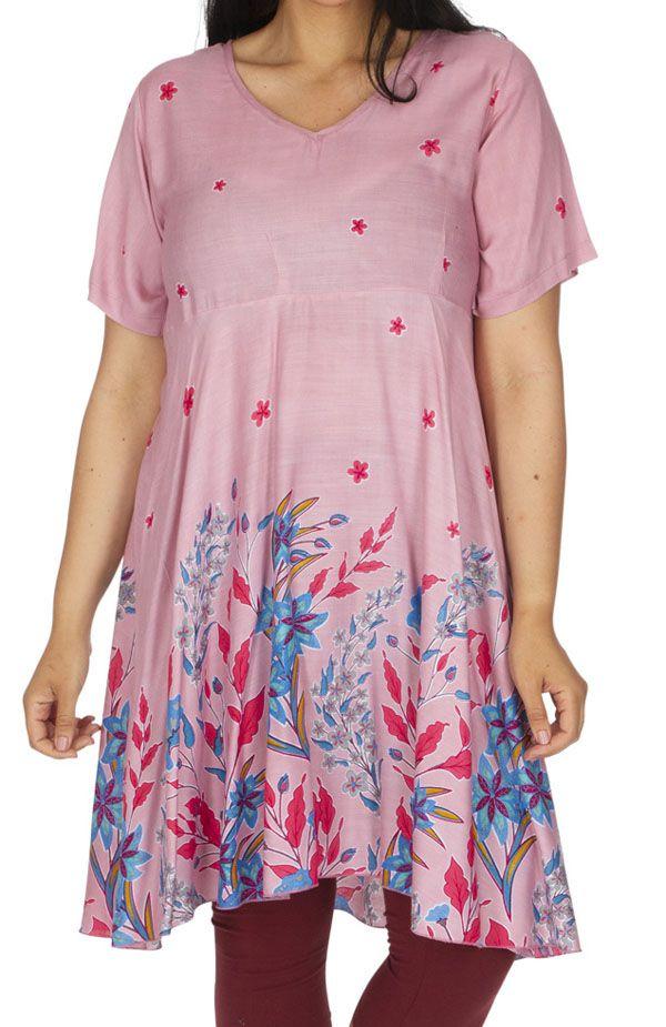 Tunique ou robe de plage femme grande taille ample Elestra