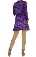 Tunique patchwork violette Musilia 266710