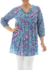 Tunique plissée sur le devant et imprimés fantaisies  Maëla 291938