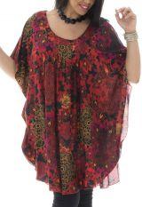 Tunique plus size coupe ample et imprimé coloré Rana 295481