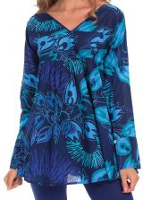 Tunique pour Femme à manches longues Originale Coraline Bleue 282025