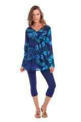 Tunique pour Femme à manches longues Originale Coraline Bleue 282026