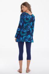 Tunique pour Femme à manches longues Originale Coraline Bleue 282027