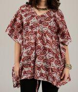 Tunique pour femme ample à manches courtes paysleys Kanaba 314984