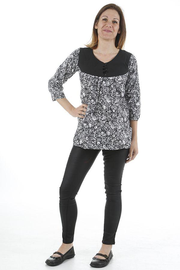 Tunique pour femme en coton imprimée et tendance Zoé 311319