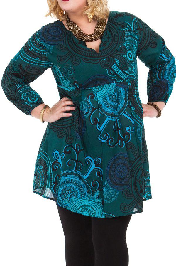 Tunique pour femme en grande taille ample et pas chère Olga 284622