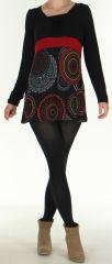 Tunique pour Femme Ethnique et Originale Odeline Noire 275964