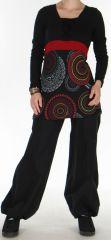 Tunique pour Femme Ethnique et Originale Odeline Noire 275966