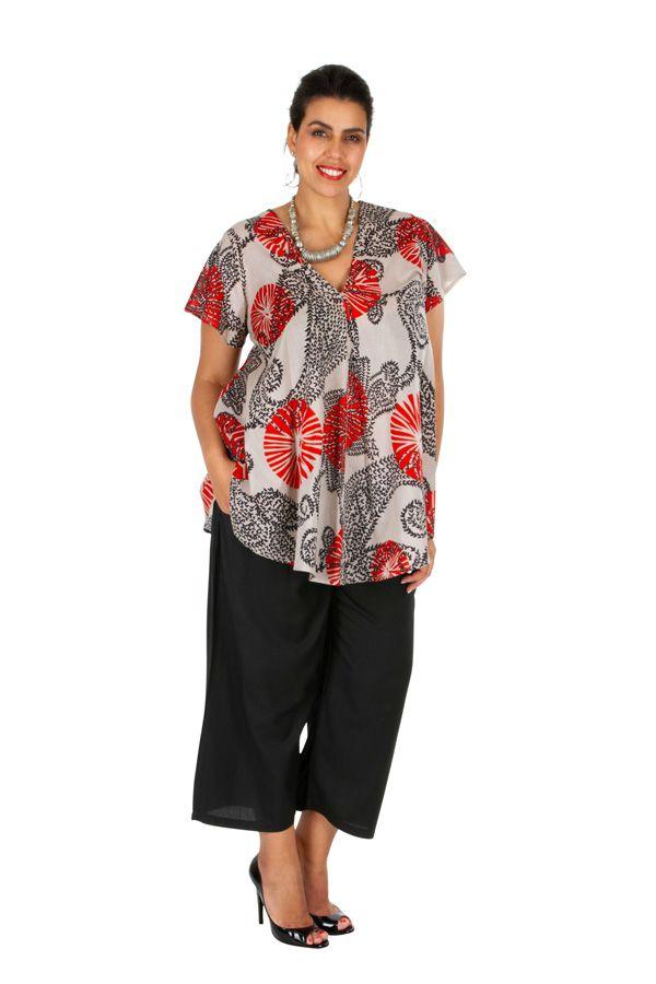 Tunique pour femme grande taille originale et colorée Glan 309834