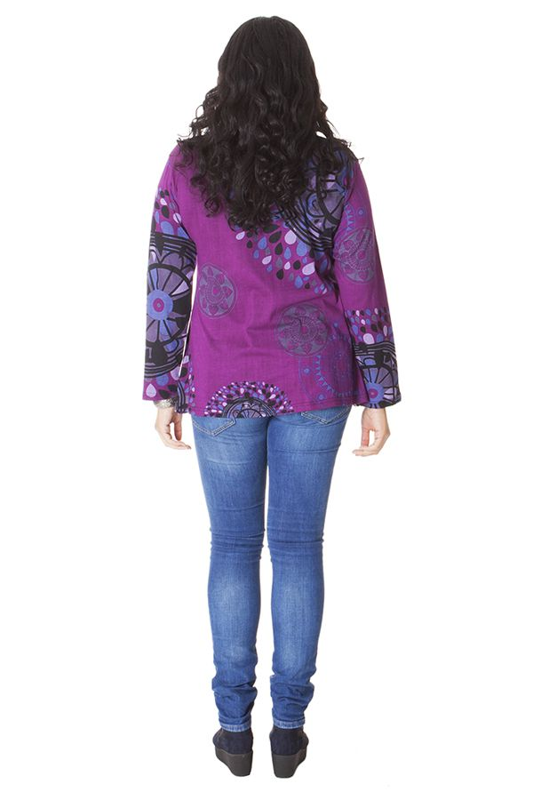 Tunique pour Femme Ronde Ethnique et Imprimée Baila Violette 286415